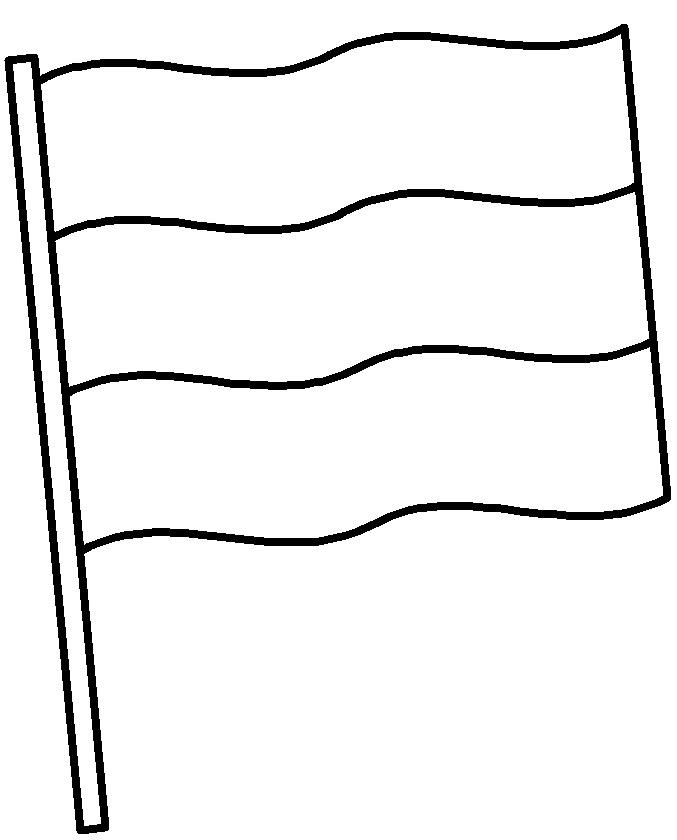 раскраски для малышей флаг