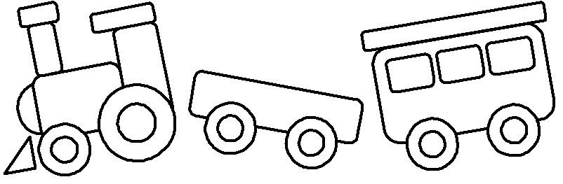 Раскраска паровозика для детей